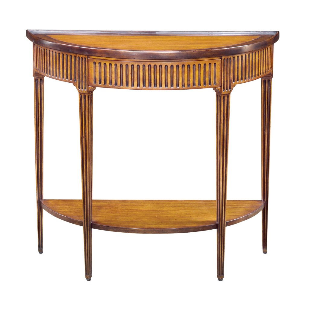 Reproduction Bowed Side Table
