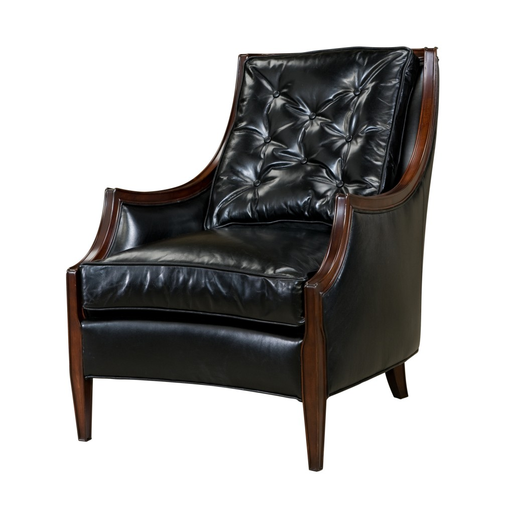 Reproduction Black Leather Lounge Chair