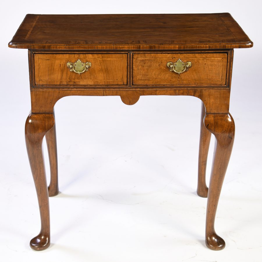 Antique English Walnut Side Table