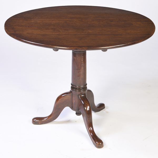Antique English Oak Tea Table