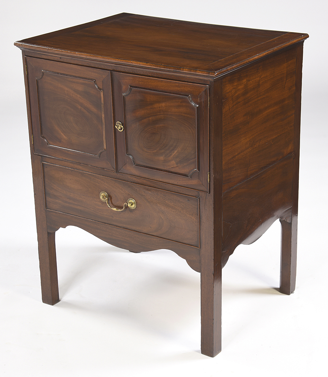 Antique English Mahogany Bedside