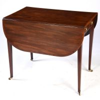 es240014 antique english mahogany pembroke table