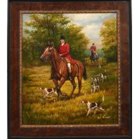 Oil Painting - Hunt Scene