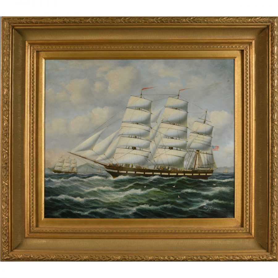 Oil Painting - Sailing Ship