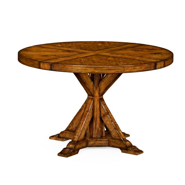 Reproduction Walnut Round Dining Table