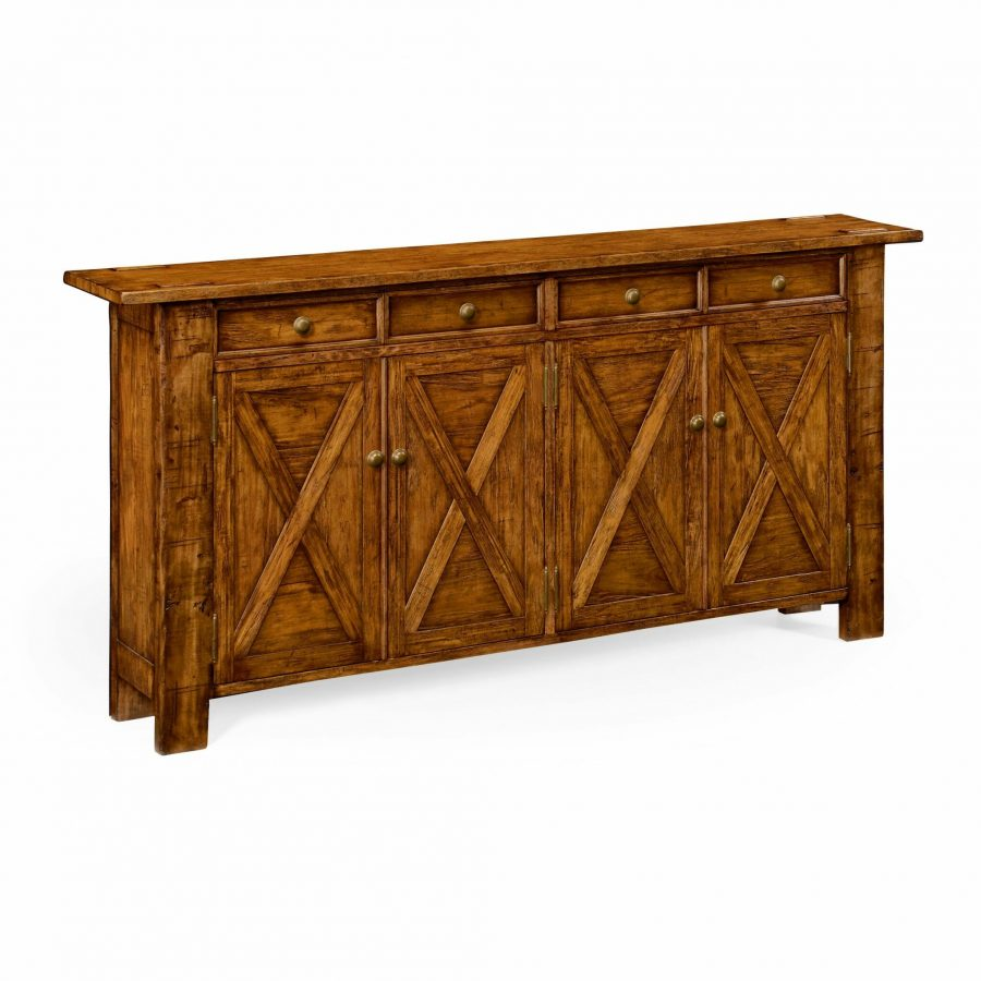 Reproduction English Country Style Walnut Credenza
