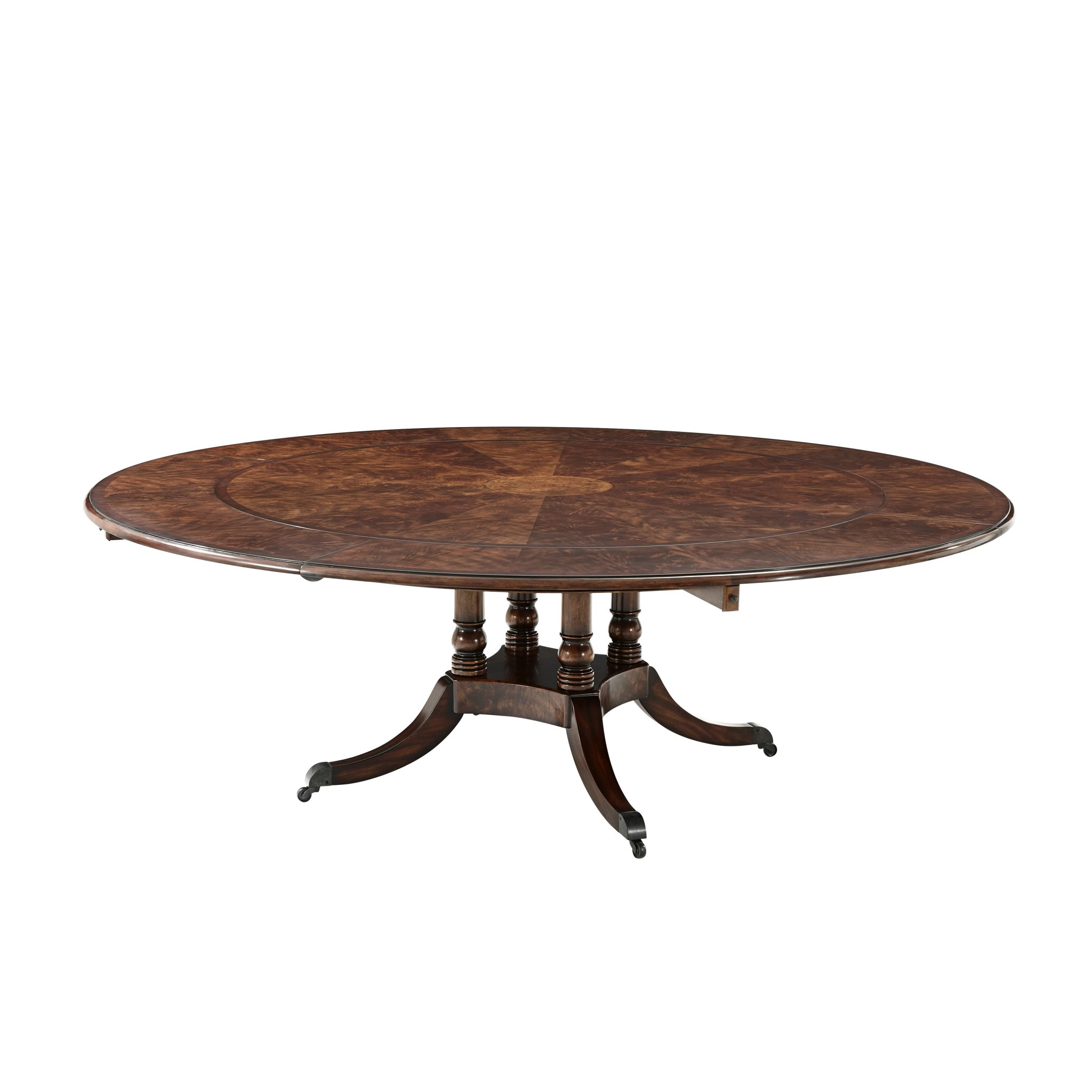 Reproduction Large Circular Dining Table English Antiques Caledonian Inc Barrington Il 60010 847 381 0569
