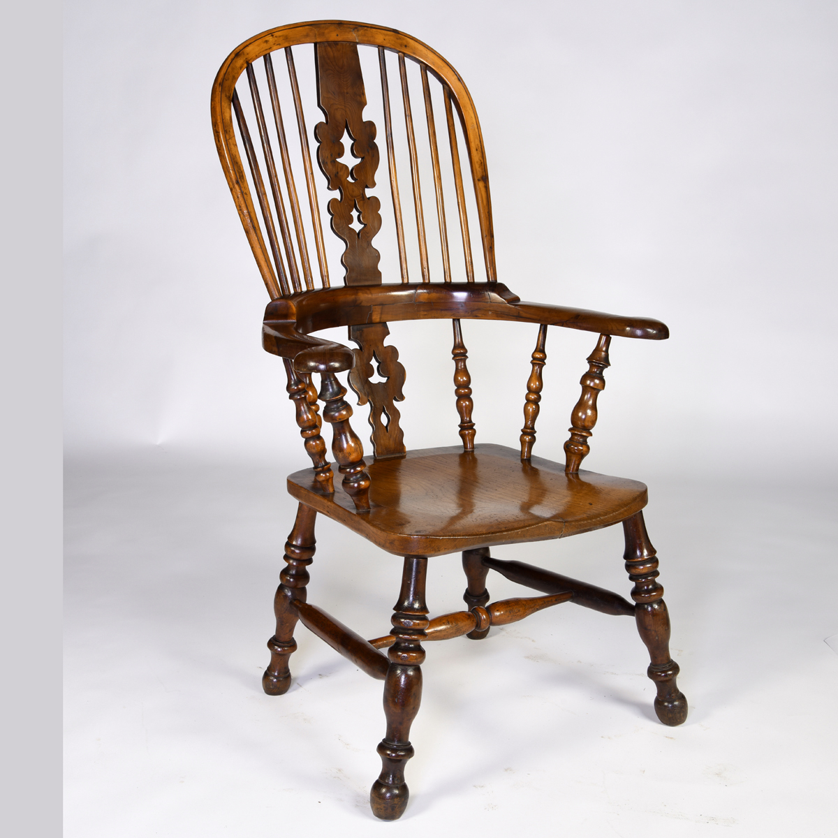 Antique English Yew Wood Windsor Armchair |English ...