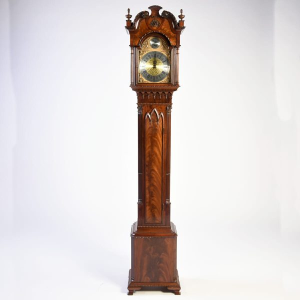 English Mahogany Grandmother Clock